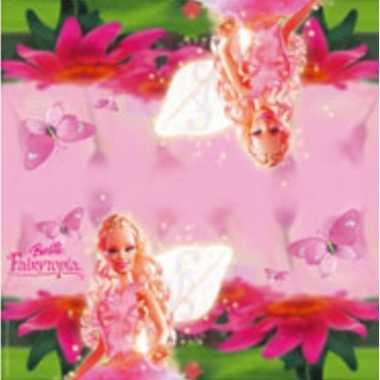 60x barbie themafeest servetten roze 33 x 33 cm papier feestje
