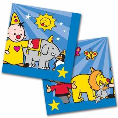 60x bumba themafeest servetten blauw 33 x 33 cm papier- feestje!