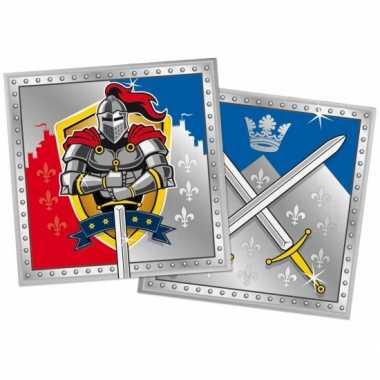 60x ridder themafeest servetten 33 x 33 cm papier- feestje!