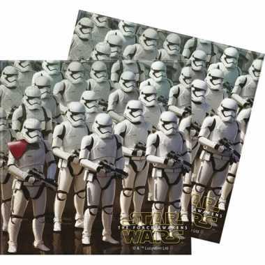60x star wars themafeest servetten 33 x 33 cm papier- feestje!