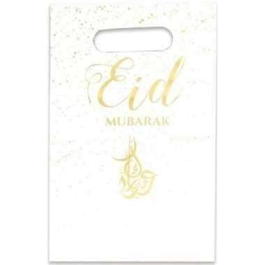 6x eid mubarak thema feestzakjes/uitdeelzakjes 23 x 17 cm- feestje!