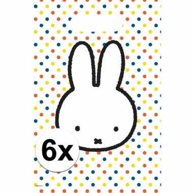 6x nijntje themafeest uitdeelzakjes/snoepzakjes 30 x 21 cm- feestje!