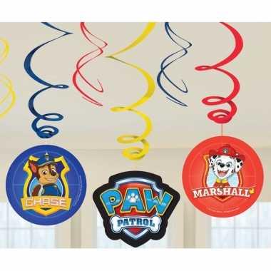 6x paw patrol themafeest rotorspiralen hangdecoratie- feestje!