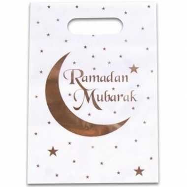 6x ramadan mubarak thema feestzakjes/uitdeelzakjes 23 x 17 cm- feestj
