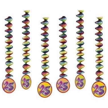 6x rotorspiralen 25 jaar versiering feestartikelen- feestje!