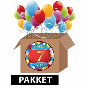 7 jarige feestversiering pakket- feestje!