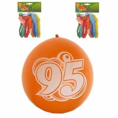 8 stuks feest ballonnen 95 jaar- feestje!