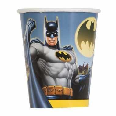 8x batman themafeest drinkbekertjes- feestje!