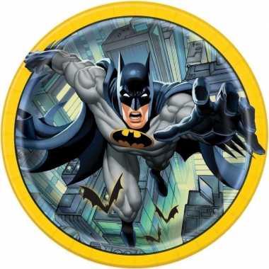 8x batman themafeest eetbordjes 23 cm- feestje!