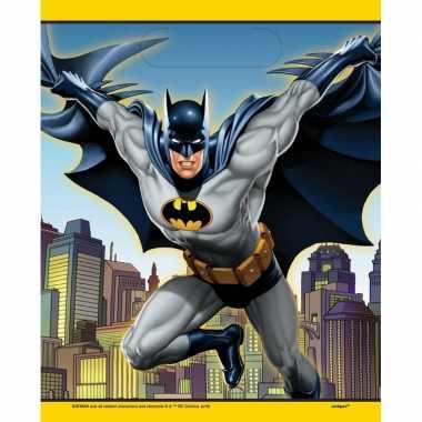 8x batman themafeest feestzakjes/uitdeelzakjes 23 x 17 cm- feestje!