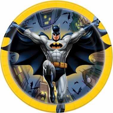 8x batman themafeest gebaksbordjes 17 cm- feestje!