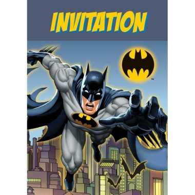 8x batman themafeest uitnodingen/kaarten- feestje!