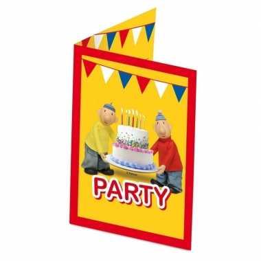 8x buurman en buurman themafeest uitnodigingen/kaarten- feestje!