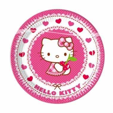8x hello kitty themafeest bordjes 23 cm- feestje!