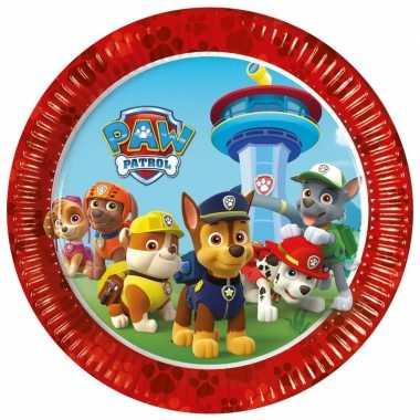 8x paw patrol feest bordjes- feestje!