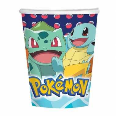 8x pokemon themafeest drinkbekers- feestje!