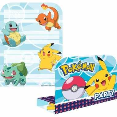 8x pokemon themafeest uitnodingen/kaarten- feestje!