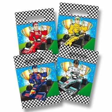 8x race/formule 1 thema feestzakjes- feestje!