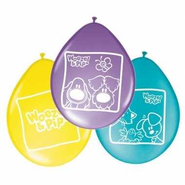 8x woezel en pip themafeest ballonnen 27 cm- feestje!
