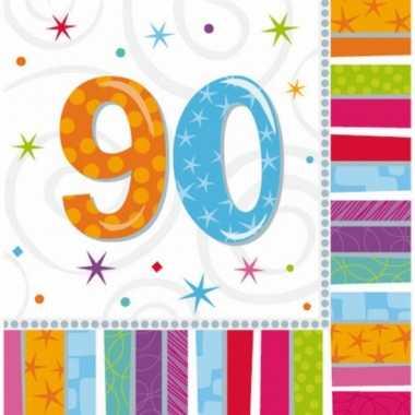 90 jaar feest artikelen servetten- feestje!