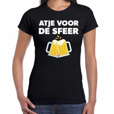 Atje voor de sfeer feest t-shirt zwart voor damesfeestje!