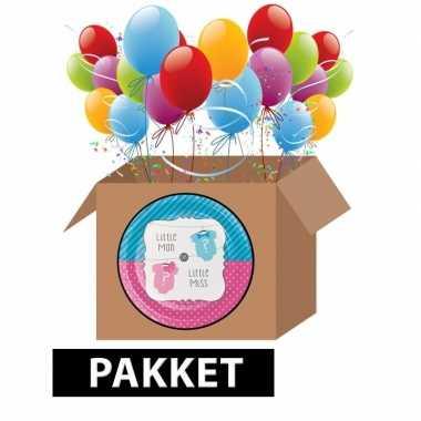 Babyshower onthulling decoratie feest pakket- feestje!