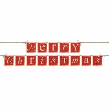 Banner feestslinger merry christmas - feestje!