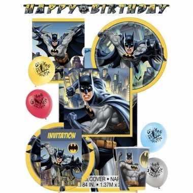 Batman themafeest kinderfeestje decoratie pakket 8 personen- feestje!