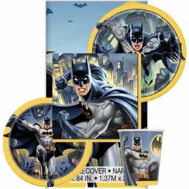 Batman themafeest tafeldecoratie pakket 8 personen- feestje!