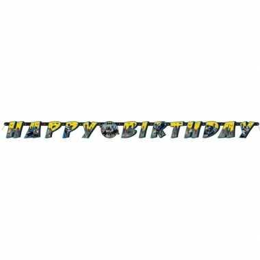 Batman themafeest wenslijn/letterslinger happy birthday 180 cm- feest