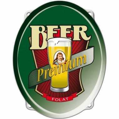 Bier feestartikelen bord 42 cm- feestje!