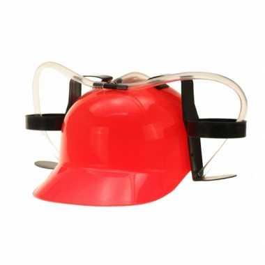 Bierfeest helmen rood feestje