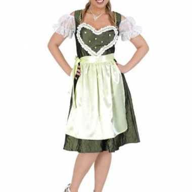 Bierfeest jurk groen met schort feestje