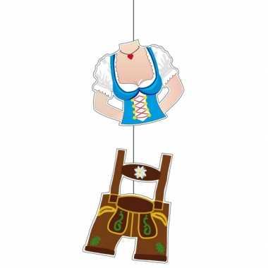 Bierfeest lederhosen hangdecoratie 70 cm- feestje!