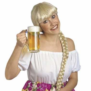 Bierfeest pruiken voor dames helga feestje