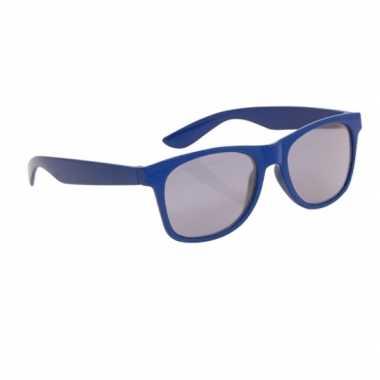 Blauwe kinder feest en zonnebril wayfarer feestje