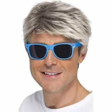Blauwe neon feestbril voor volwassenen- feestje!