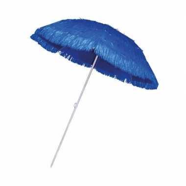 Blauwe parasol voor een hawaii feest- feestje!