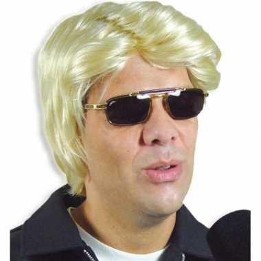 Blonde feestpruik heren- feestje!