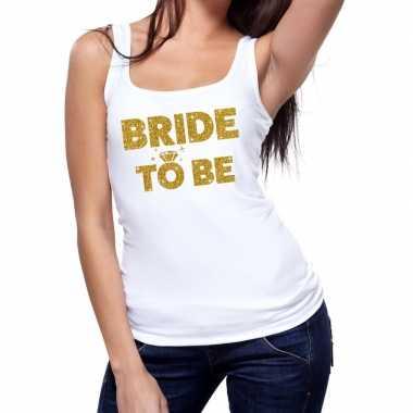 Bride to be gouden vrijgezellenfeest tanktop / mouwloos shirt wi- fee