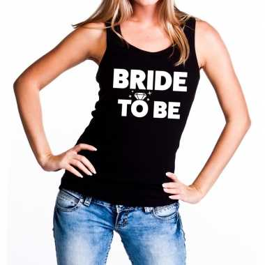 Bride to be vrijgezellenfeest tanktop / mouwloos shirt zwart dam- fee
