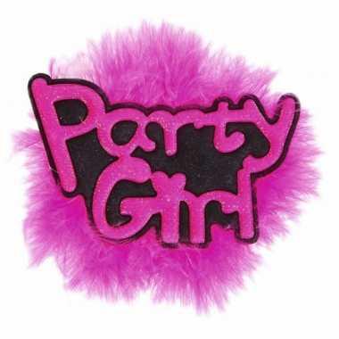 Bruid vrijgezellen feest button party girl- feestje!