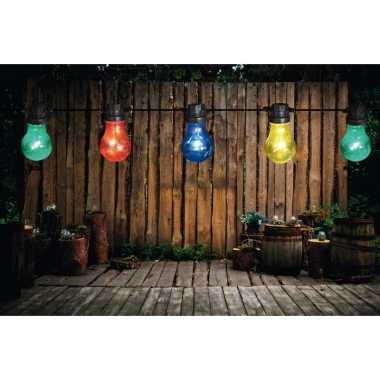 Buiten feestverlichting lichtsnoer gekleurde bolletjes 10 meter- fees