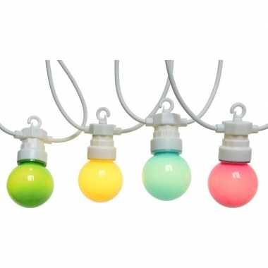 Buiten feestverlichting lichtsnoer gekleurde lampbolletjes 950cm- fee