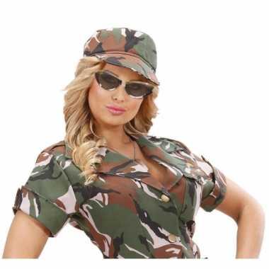 Camouflage feestbrillen ovaal- feestje!