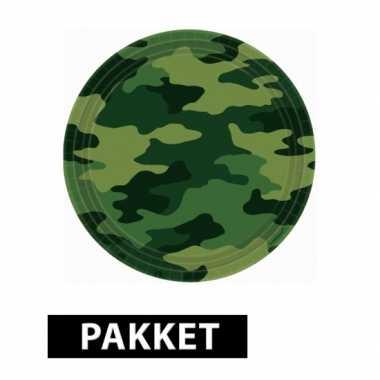 Camouflage feestpakket feestje