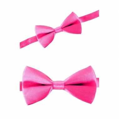 Carnaval feest strikje roze feestje