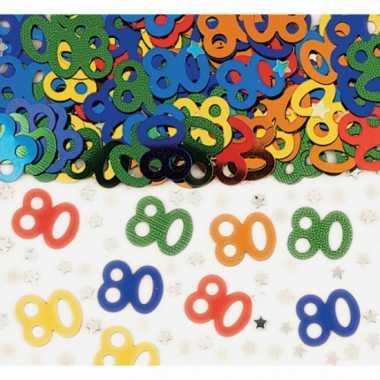 Confetti 80 jaar verjaardag feestartikelen- feestje!