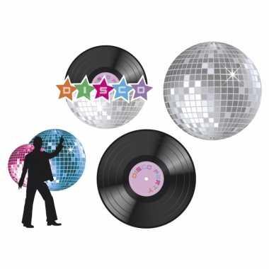 Disco feest versiering set 4x- feestje!