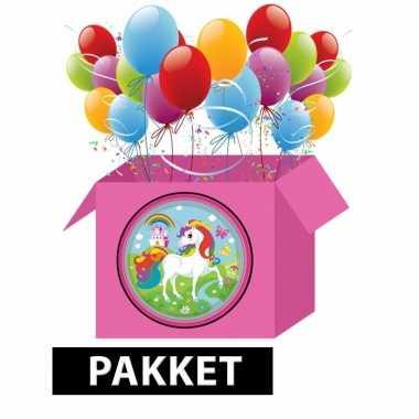 Eenhoorn kinderfeestje pakket l- feestje!